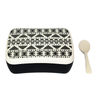SNACK BOX AZTEC WHITE BLACK S