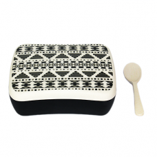 SNACK BOX AZTEC WHITE BLACK