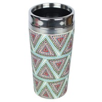 "BAMBOO ""TAKE AWAY"" MUG AZTEC BLUE"