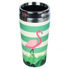 "BAMBOO ""TAKE AWAY"" MUG FLAMINGO"