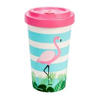 BAMBOO CUP FLAMINGO PINK