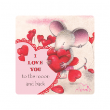 MIAMONDO  FRIDGE MAGNET -  I LOVE YOU 2
