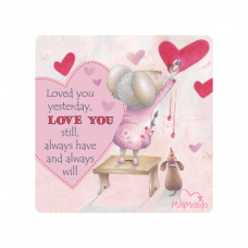 MIAMONDO  FRIDGE MAGNET -  LOVE YOU