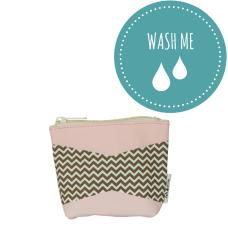 Washable Paper Mini Bag Zig Zag Pink