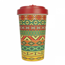 BAMBOO CUP AZTEC ORANGE RED