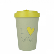BAMBOO CUP I LOVE COFFE
