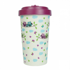 BAMBOO CUP OWLS PURPLE