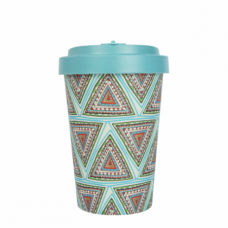 BAMBOO CUP AZTEC BLUE TURQUOISE BLUE