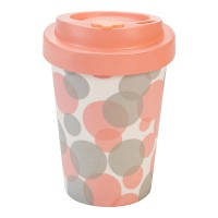 BAMBOO CUP BUBBLES PINK (without packaging)