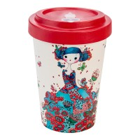 BAMBOO CUP SYBILE  MACARON RED
