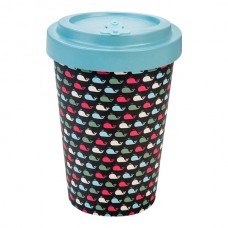 BAMBOO CUP WHALES TURQUISE BLUE