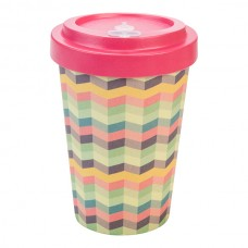 BAMBOO CUP ZIG-ZAG PINK