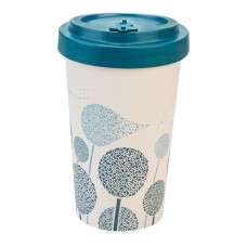 BAMBOO CUP DANDELIONS DARK BLUE