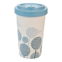 BAMBOO CUP DANDELIONS BLUE