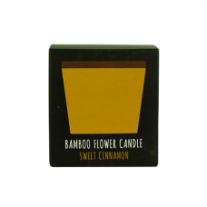 BAMBOO FLOWER CANDLE 2 IN 1 SWEET CINNAMON