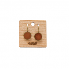 DROP EARRINGS BORDO